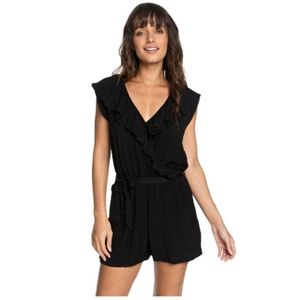 Roxy Cool Your Heart Romper-True Black